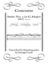 Courante - Suite No.1 in G Major - Arrangement for acoustic guitar (flatpicking)